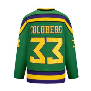 Wholesale throwback mighty duck jerseys resale online - mighty ducks hockey movie throwback jersey goldberg Sweatshirts green white custom Sports Outdoor multi color fast embroidered pucks stitched