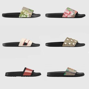 Wholesale hunter green heels resale online - Mens Womens Top Quality Paris Sliders Summer Sandals Beach Slippers Ladies Flip Flops Loafers Black White Red Green Slides Shoes