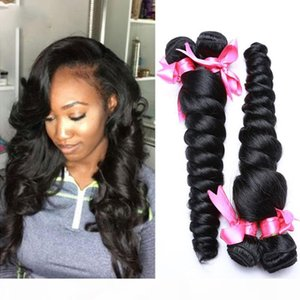 Wholesale 18 remi hair resale online - Great Quality Malaysian loose wave Human Hair Bundles Cheap weaves Remi Weave Unprocessed Big Curly Hair Extensions Natural Wave
