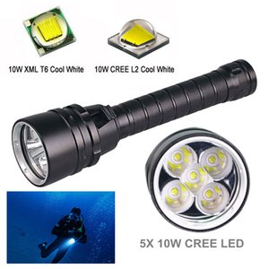 Wholesale led ip68 mini resale online - GM Professional Powerful W LED Diving Light Cree T6 LED Diving Waterproof IP68 Torch For Underwater m