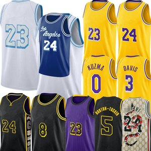 Talen 5 Horton-Tucker Jersey Alex 4 Caruso 23 Jersey Anthony 3 Davis Kyle 0 Kuzma Jersey Los J a m Basketball Jerseys Angeles