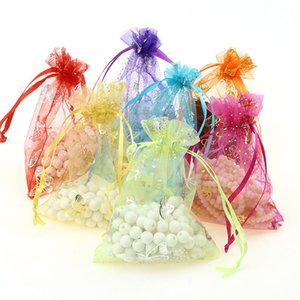 100pcs lot Organza Bags with Drawstring for Rings Earrings Bag Wedding Baby Shower Birthday Christmas Gift Package