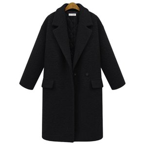Wholesale refined women for sale - Group buy Fashion Refined Winter Coat Women Temperament Suit Collar Plus Size Woman s Cotton Thick Warm Woolen Overcoat S XXXL Women s Wool Blends