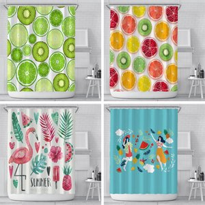 Wholesale farmhouse curtains for sale - Group buy Modern Shower Curtain Waterproof Bathroom Fresh Fruits Toilet Laundry Room Home Decor Watertight Bath Farmhouse Curtains