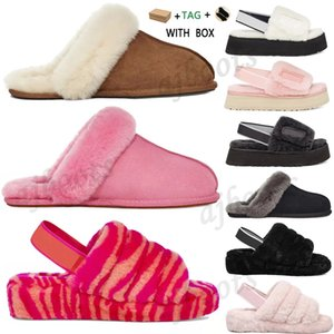 invernos sapatos para homens venda por atacado-ugg uggs ugglis Boots fluff Classic Designer furry tall yeah slippres men kids Snow Winter slides ankle australia ug wgg Women leather shoes fur fluffy