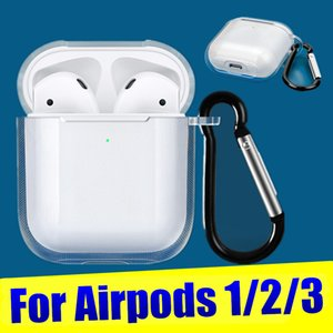 ingrosso baccelli iphone-Per Apple iPhone Airpods Caso Clear TPU Cover protettivo su Air Pods Aurphone Protector Cases