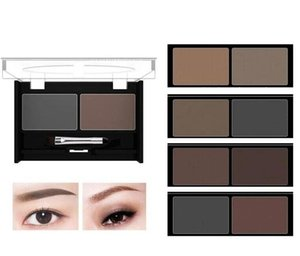 Wholesale brow palettes for sale - Group buy MYG set Top quality makeup two color Eyebrow powder waterproof Eye Brow Palette Brush EyebrowEnhancer