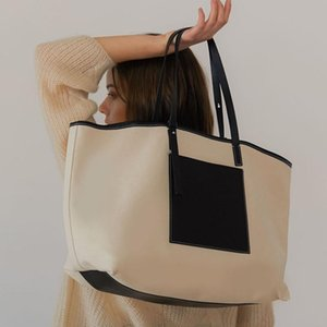 Wholesale korean large bags fashion lady resale online - Korean Fashion Women s Women Ladies Big Bag Shopping Art Canvas Single Piece Handbag Student Wild Large Capacity Beach Shoulder Bags