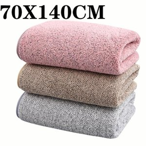 Wholesale bamboo microfiber towel resale online - 70x140cm Bamboo Charcoal Coral Velvet Bath Towel For Adult Soft Absorbent Microfiber Fabric Household Bathroom