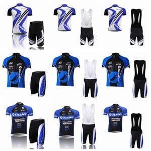 Wholesale triathlon shorts resale online - 2018 men giant Summer Short Sleeve Strap Bib Shorts Set Cycling Jersey Pro Team Outdoor MTB Road Bicycle Triathlon Clothes Y