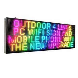 """WiFi LED Sign P10 SMD 7 Color Scrolling Led board 39""""x14"""" High Brightness Outdoor LED AdvertisingAdvertising Display Panel"""