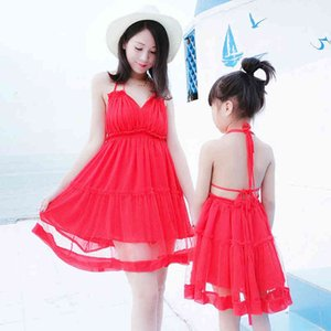 Wholesale mother daughter dress for summer for sale - Group buy Backless Sexy Red Dress for Kid Girl Women Summer Dresses Mother Daughter Matching Outfits Clothing
