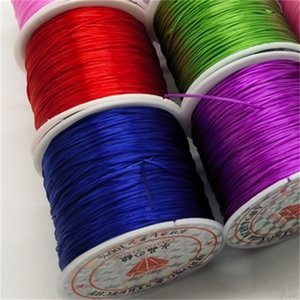Wholesale fish wire resale online - 10 Roll mm Color Flexible Elastic Crystal Line Rope Cord For Jewelry Making Beading Bracelet Wire Fishing Thread Rope Q2