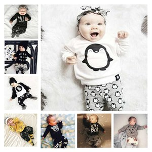 Wholesale penguin suits for sale - Group buy Kids tales children s clothing infant suit years old baby penguin two piece set
