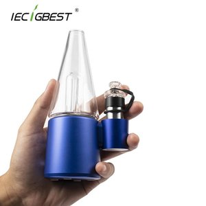 Wholesale electric oil rigs resale online - IECIGBEST In Dry Herb Vaporizer Electric Dab Rig for Flower Wax Oil mAh Battery