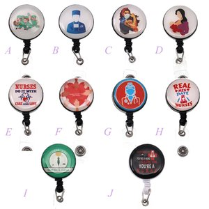Wholesale clips for badges resale online - Medical retractable alligator clip styles cute thanks for nursing gift and doctor Epoxy Id badge holder nurse accessories