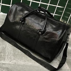 Wholesale mens designer travel bags for sale - Group buy Black Mens Luxury Designer Travel Luggage Bags Totes PU Leather Duffel Courrier Shoulder Bag Hand Storage cm XHH21