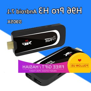 android hdmi stick quad kern großhandel-H96 PRO H3 Mini PC AMLOGIC S905X Quad Kern Android Dongle GB GB G G Wifi Bluetooth HDMI Hevc H P k HD TV Stickkasten