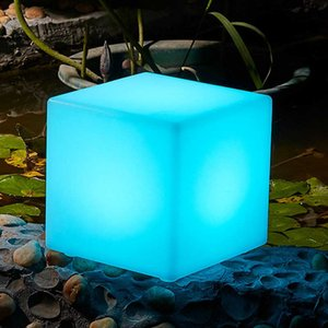 Wholesale cube decorations for sale - Group buy PE Plastic LED Cube Stool RGBW Wireless Hotel Decoration LED Furniture Waterproof Garden Glowing Stool Cube Remote Control Chair
