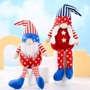 Wholesale graduation party decorations resale online - Party Decoration Patriotic Veterans Day Tomte Gnome Decorations Handmade Stars Plush Doll Swedish Ornaments th of July Gift
