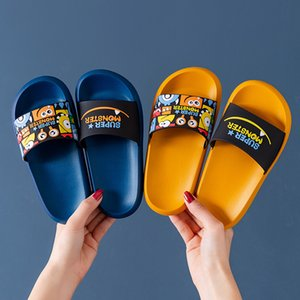 Wholesale sandals of girls resale online - slippers boys summer girls cartoon trend Children s feeling of stepping on excrement parent child sandals new