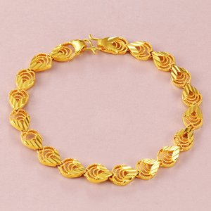 Wholesale artificial flower bracelets resale online - Placer Gold Jewelry Vietnam Placer Gold Gold Plated K Color Bracelet Womens Brass Artificial Flower Bracelet