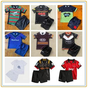 ingrosso pullover da rugby dei ragazzi-Kids Rugby Kit Jerseys Wests Tigri Maori Storm Brisbane Broncos Penrith Panthers Canberra Raider Rabbitohs Bambini Jersey Gioventù
