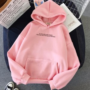 Wholesale teen girls clothes for sale - Group buy Womens Clothing Teens Girls Funny Letter Oversized Hoodies Women Sweatshirts Harajuku Hooded Sweats Long Sleeve Autumn Warm
