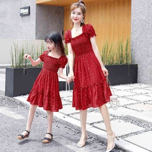 Wholesale beach dress mom daughter for sale - Group buy and Summer Mommy Me Floral Dresses Family Matching Outfits Mom Daughter Short Sleeve Dress Girls Beach Vacation Fashion Clothes