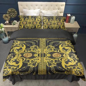 Wholesale tigers bedding sets for sale - Group buy Oentyo D Tiger Print With Chains Gold Luxury Duvet Cover Queen King x240 For Double Bed x220 Nobel Euro Bedding Sets