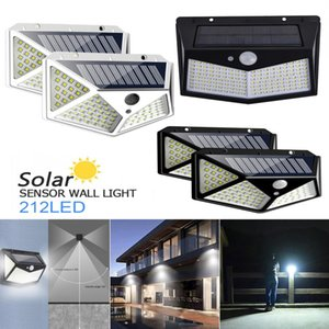 212 bead solar lamp intelligent light control system dynamic human body induction for outdoor and garden
