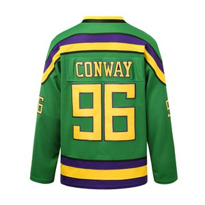 Wholesale throwback mighty duck jerseys for sale - Group buy mighty ducks hockey movie throwback jersey conway Sweatshirts green white custom Sports Outdoor multi color fast embroidered pucks stitched