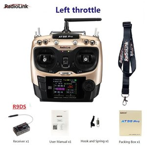Wholesale radiolink transmitter for sale - Group buy Radiolink AT9S Pro G CH System Transmitter With R9DS Receiver AT9 Remote Control Update Vision For Quadcopter Helicopter Controlers