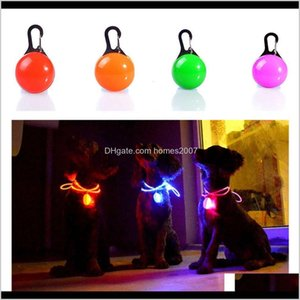 Wholesale flashing led dog collar pendant light resale online - Collars Leashes Supplies Home Gardenpet Light Cat Waterproof Illuminated Safety Night Walking Lights Id Tags Pet Dog Pendants Flashing Led
