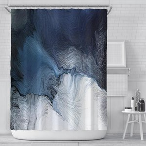 Wholesale farmhouse curtains resale online - Nordic Oil Paints Shower Curtain Waterproof Bathroom Balcony Toilet Home Decor Watertight Bath Farmhouse Curtains