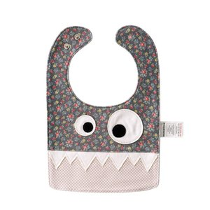 ingrosso bussole di halloween-Commercio all ingrosso Bambino in stile Piccolo Cartoon Monster Bibs Burp New Kids Christmas Christmas Halloween puro cotone doppio strato Bibs Burp Panni Y2