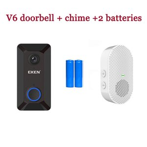 Wireless 720P EKEN V6 WiFi Smart Doorbell Video Camera Cloud Storage Door Bell Home Security House Intercom Real-Time Two-Way Audio Night Vision