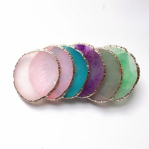 Wholesale draw organizers resale online - Storage Boxes Bins Agate Plate Color Organizer Shelf Mixinger Painted Jewelry Resin Board Nail Tray Drawing Display Palette Ring Necklace