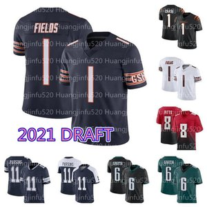 ingrosso cowboys calcio-1 Justin Fields Micah Parsons Jersey di calcio Chicago