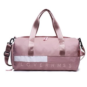 Wholesale pink gym bags resale online - Outdoor Waterproof Nylon Sports Gym Bags Men Women Training Fitness Travel Handbag Yoga Mat Sport Bag with shoes Compartment Z2
