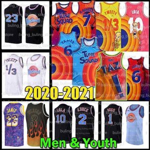 lebrons james venda por atacado-Espaço de filme Jam Jersey Tune Squad James Bugs Taz Lebron Lola Michael D duck Bill Murray Blue Tweety R Runner