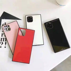 Wholesale shows case for sale - Group buy luxury designer show box phone cases of Pure color glass for iPhone pro promax X XS Max Plus
