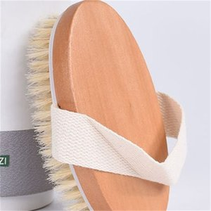 Wholesale drying brushes resale online - Bath Brush Dry Skin Body Soft Natural Bristle SPA The Brush Wooden Bath Shower Bristle Brush SPA Body Brushs Without Handle EEA1336 R2