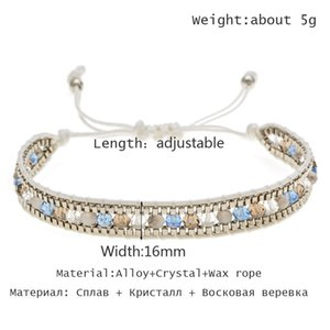 Wholesale chain link machine for sale - Group buy link Lubing machine Women Men Handmade Bohemians Weave Adjustable Rope Chain Crystal Charms Bracelets Fashion Jewelry Cadeau