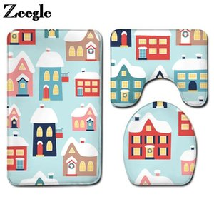 Wholesale style seats for sale - Group buy Bath Mats High Quality Bathroom Capet Rug Cartoon Style Mat Waterproof Toilet Seat Cover And Flannel Floor Carpet Set