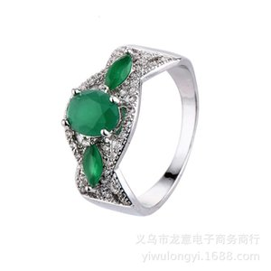 Wholesale diamond zircon crystal rings resale online - Rings Fashion jewelry creative stone black gold emerald crystal diamond zircon ring