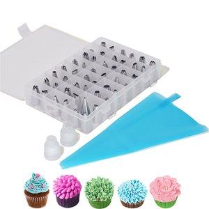 Cake Decorating Tools 51Pcs Set DIY Dessert Decorators Reusable Piping Nozzles Kits Pastry Bag Scraper Cream Tips Converter Kitchen Baking Tool