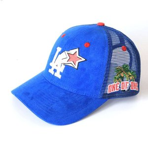 Wholesale custom trucker caps resale online - hathatHot Selling Fashion Cool Custom Embroidery Design Suede Panel men Baseball Trucker Caps hats similar to la