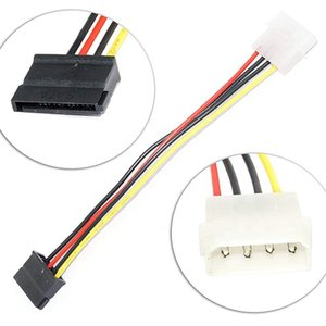 Wholesale hard wired cable resale online - D Shape IDE to Serial SATA Power Cable PIN Adapter Wire Hard Disk Drive