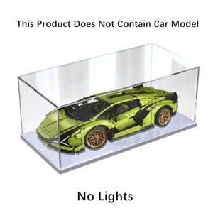 Wholesale toy organizers for sale - Group buy Car Model Scene High Capacity Storage Box Acrylic Toy Organizer Display Bin Nordic Led Spotlight Theme Building Block Store Case C0331